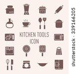set of kitchen tools icon