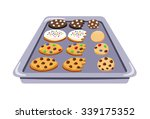 cookie tray set of various...
