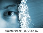 high tech technology background | Shutterstock . vector #33918616