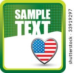 american heart on grunge style... | Shutterstock .eps vector #33919297