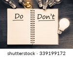 do and don't sorting table on... | Shutterstock . vector #339199172