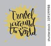 travel around the world. vector ... | Shutterstock .eps vector #339199988
