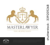 Stock vector master lawyer logo template 339205268