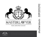 law firm logo template | Shutterstock .eps vector #339205292