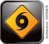 hurricane warning sign on... | Shutterstock .eps vector #33920878
