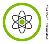 atom vector icon. style is... | Shutterstock .eps vector #339215912