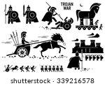 trojan war horse greek rome... | Shutterstock .eps vector #339216578