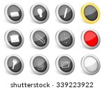 3d icons office on white... | Shutterstock .eps vector #339223922