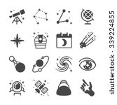 astronomy and space icons....   Shutterstock .eps vector #339224855