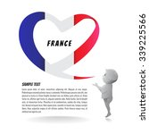 French Flag In The Shape Of A...