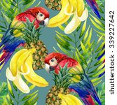 tropical background. seamless... | Shutterstock . vector #339227642
