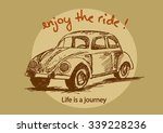 life is a journey  enjoy the... | Shutterstock .eps vector #339228236