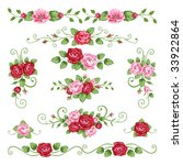 roses collection | Shutterstock .eps vector #33922864