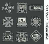 cyber monday insignias... | Shutterstock .eps vector #339231572