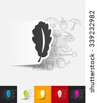 hand drawn simple elements with ... | Shutterstock .eps vector #339232982
