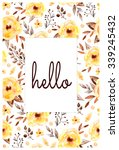 ready made beautiful postcard... | Shutterstock . vector #339245432