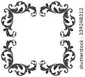 vintage baroque frame scroll... | Shutterstock .eps vector #339248312
