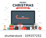 geek happy new year and... | Shutterstock .eps vector #339257252