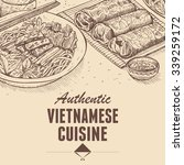 hand drawn of vietnamese fresh... | Shutterstock .eps vector #339259172