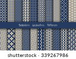 seamless geometric patterns set....