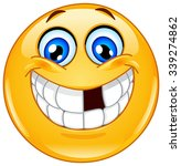smiling emoticon with missing... | Shutterstock .eps vector #339274862