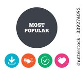 most popular sign icon.... | Shutterstock .eps vector #339276092