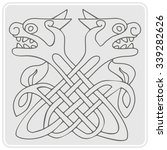 monochrome icon with celtic art ... | Shutterstock .eps vector #339282626