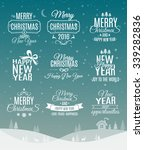 vintage merry christmas and... | Shutterstock .eps vector #339282836