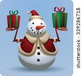 Christmas Snowman In Christmas...