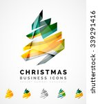 set of abstract christmas tree... | Shutterstock .eps vector #339291416