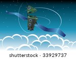 satellite in the space   Shutterstock .eps vector #33929737