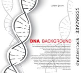 dna molecular structure... | Shutterstock .eps vector #339298325