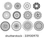 henna abstract mandala design