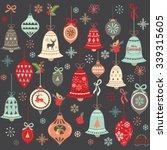 chalkboard vintage christmas... | Shutterstock .eps vector #339315605