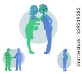 the spread of bacteria.... | Shutterstock .eps vector #339319382