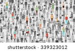 crowd of people with few... | Shutterstock .eps vector #339323012