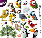 Extra Big Vector Bird Set