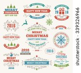 vintage merry christmas and... | Shutterstock .eps vector #339326966