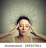 closeup young woman with... | Shutterstock . vector #339327812