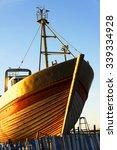 fishing boats in essaouira ... | Shutterstock . vector #339334928