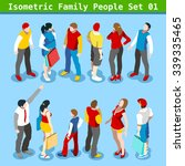 flat style family set. young... | Shutterstock .eps vector #339335465