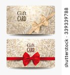 gift cards with silk bows and... | Shutterstock .eps vector #339339788