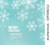 Abstract Christmas Card With...