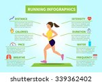 vector flat running and jogging ... | Shutterstock .eps vector #339362402