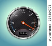 vector speedometer icon | Shutterstock .eps vector #339364778