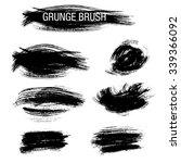 vector set of grunge brush... | Shutterstock .eps vector #339366092