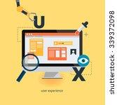 ux design web infographic... | Shutterstock .eps vector #339372098