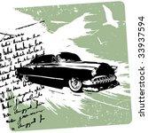 classic car   Shutterstock .eps vector #33937594