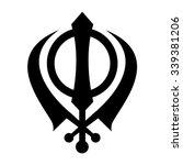 khanda symbol . sikhism... | Shutterstock .eps vector #339381206