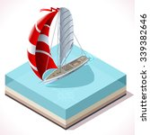 points of sail isometric 3d... | Shutterstock .eps vector #339382646